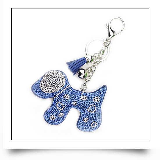 Crystal Dog Keychain
