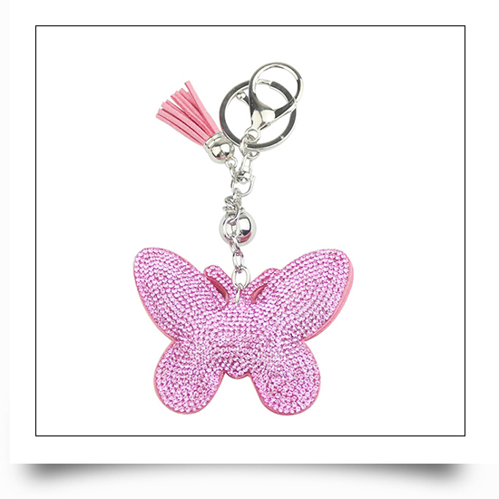Butterfly Crystal Keychain