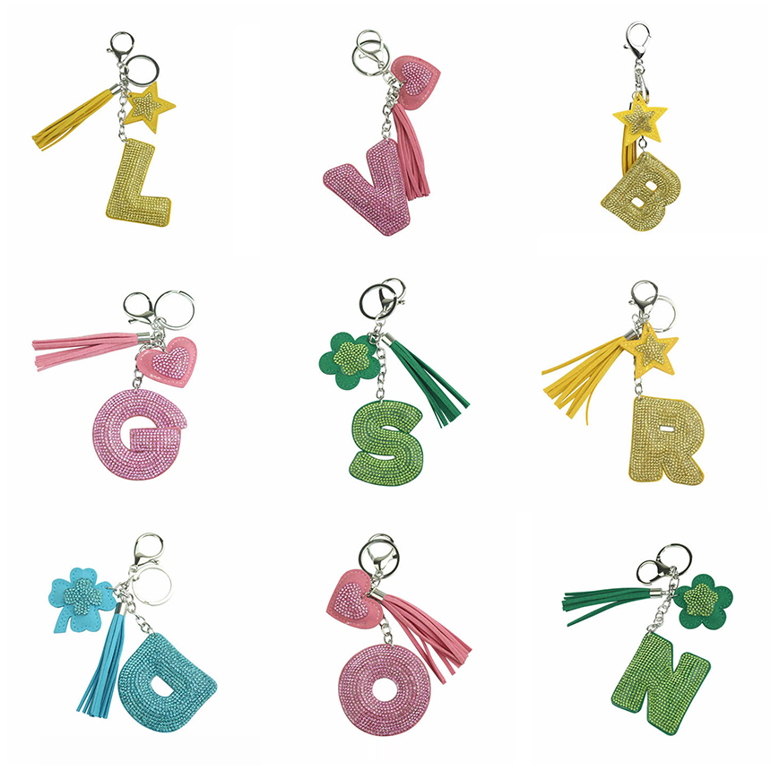 Crystal Letter Keychains