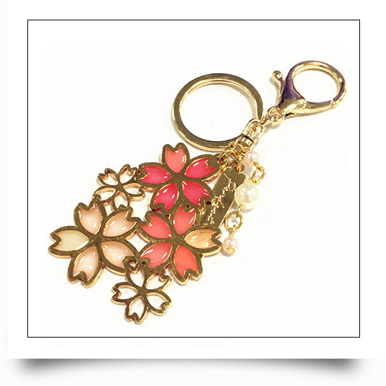 Metal Flower Hollow Out Keychain