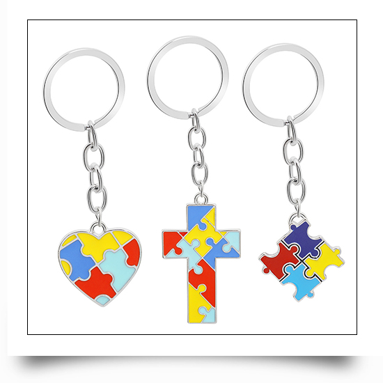 Puzzle Metal Keychains