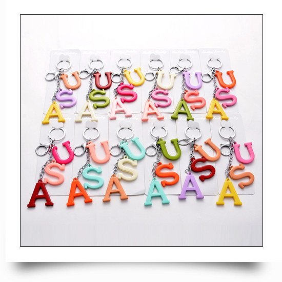 Acrylic Letter Keychains
