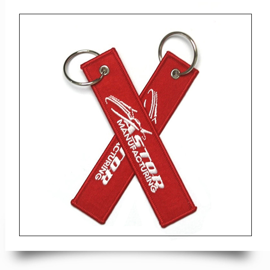Aerospace and Rail Industries Embroidered Keychain