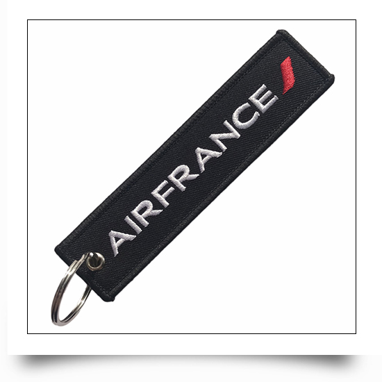 Air France Airline Embroideryied Keychain