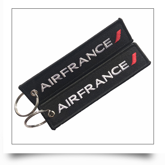 Air France Airline Embroidered Keyring