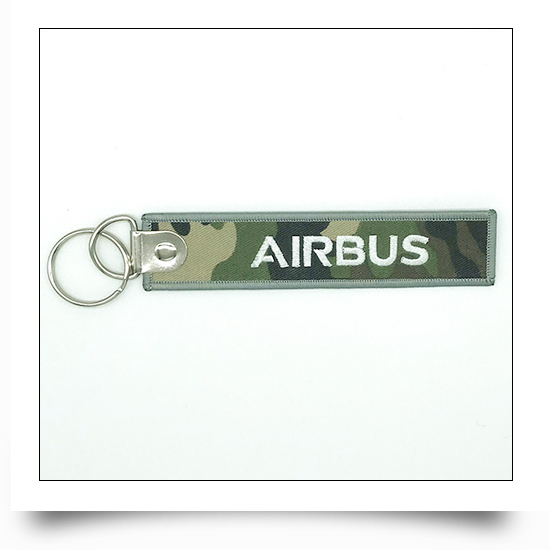 Airbus Logo Embroidered Keychain