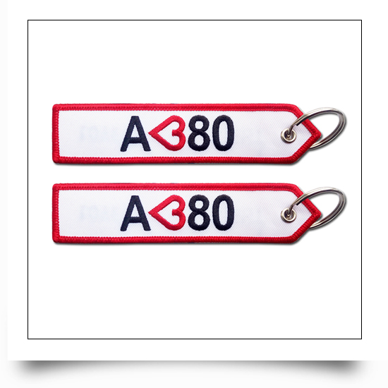 Airline Crew Embroidered Keyring