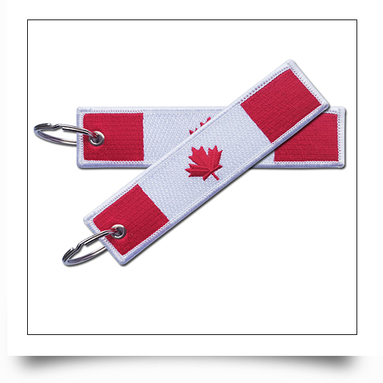 Canadian Embroidered Keychain
