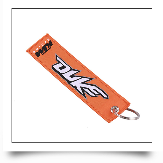 Car Racing Embroidered Keychain