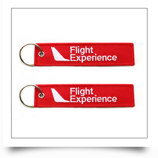 Flight Simulation Experience Embroidered Keychain