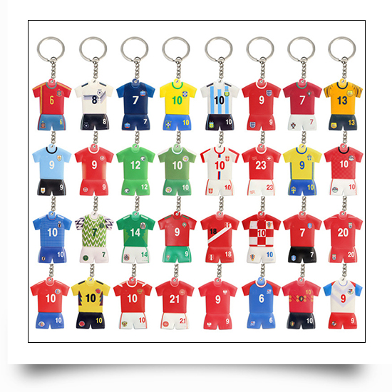 PVC Football Suit Keychains