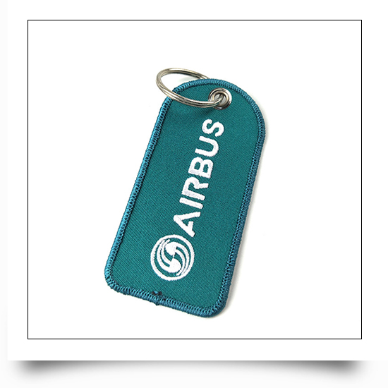 Airbus Pilot Embroidery Keychain