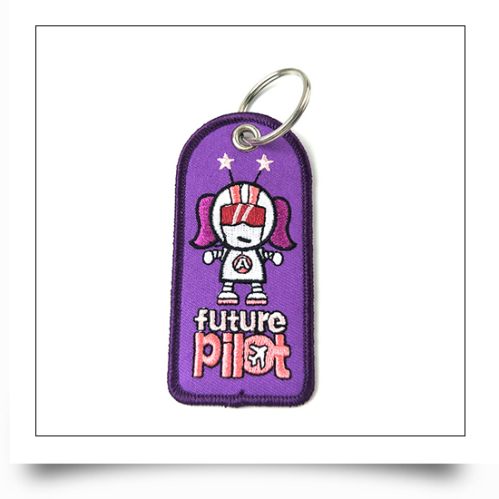 Pilot Embroidery Keyring