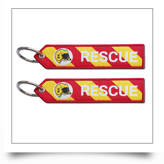 Rescue Special Mark Embroidery Keychain