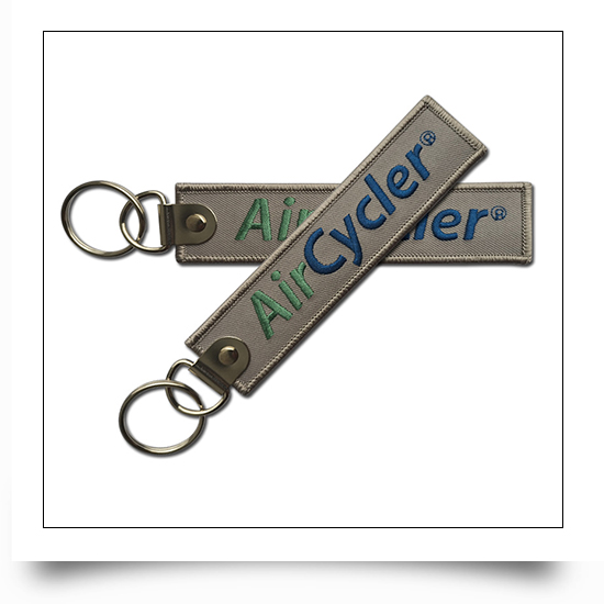 Woven Key Tag with Logo