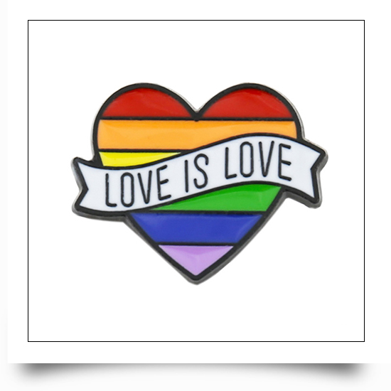 13 Designs Available Love is Love Metal Lesbian Pins