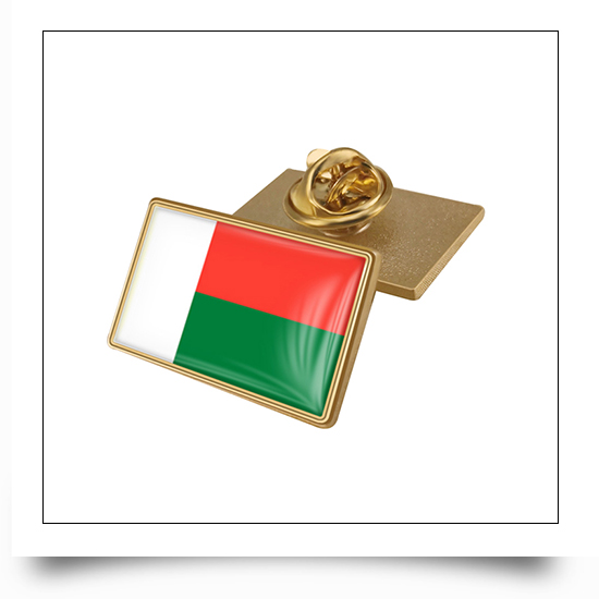 All National Flags Available Metal National Flag Pin with Epoxy