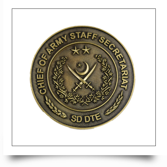 Custom Antique Bronze Metal Military Army Coin