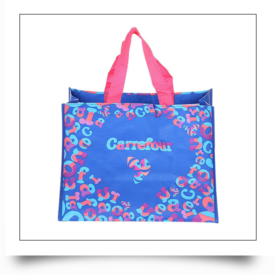 Custom Logo Printed Mall Promotional PP Woven Tote Bag