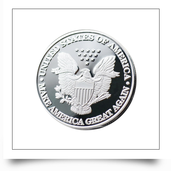 Custom President Election Voting Metal Coin