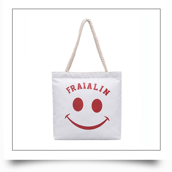 Custom Printing Canvas Tote Bags with Rope Handle