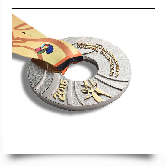 Cut Out Design Round Cycle Running Medal