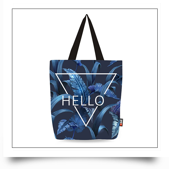 Digital Printing Leafs Given Canvas Travel Bags