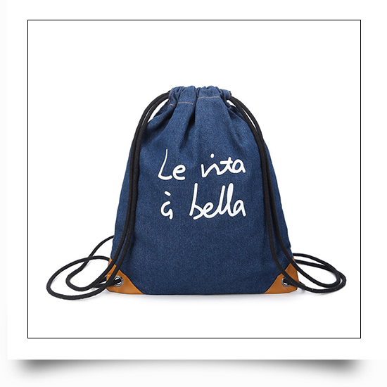 Drawstring Backpack Pouch Shoe Bags