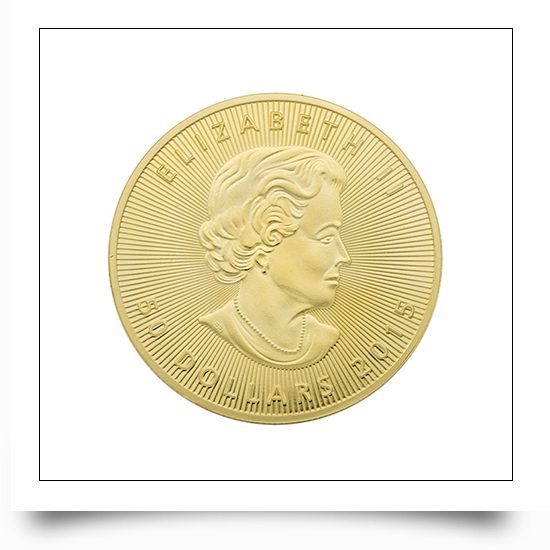 Fine Finshing Gold Canadian Maple Queen commemorative Coin