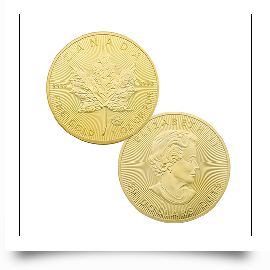 Fine Finshing Gold Canadian Maple Queen commemorative Coins