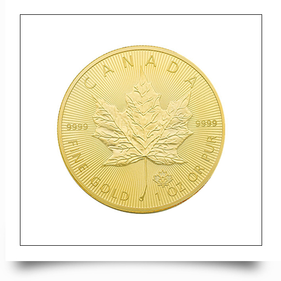Gold Canadian Maple Queen commemorative Coin
