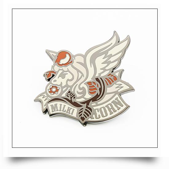 Hard Enamel Metal Unicorn Pin