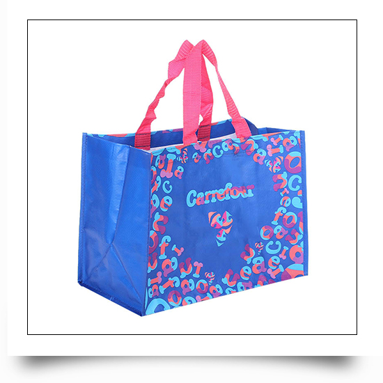 Logo Printed Mall Promotional PP Woven Tote Bag