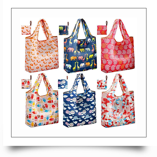 Logo Printing Polyester Foldable Grocery Bags
