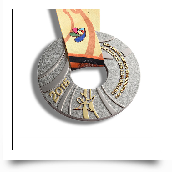 Metal Cut Out Design Round Cycle Running Medal