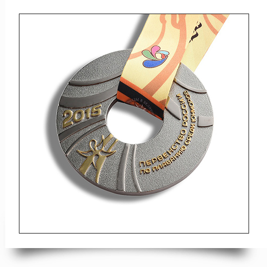 Metal Cut Out Round Cycle Running Medal
