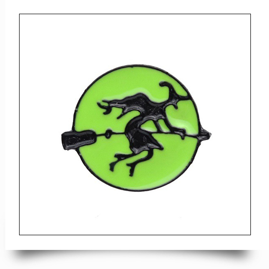 Metal Witch Halloween Pin