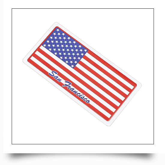 National Flag Souvenir Rubber Fridge Magnet