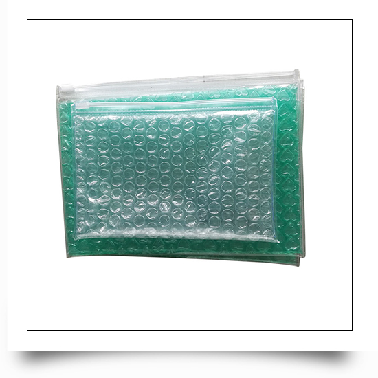 PVC Bubble Protective Packaging Bag with Zipper