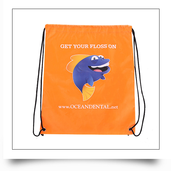 Polyester Backpack Style Drawstring Gift Bag