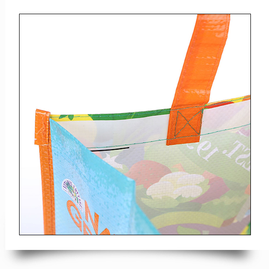 Promotional Logo Printed PP Woven Grocers Bag