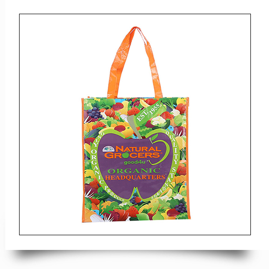 Recyclable Logo Printed PP Woven Grocers Bag