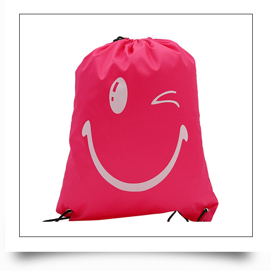 Red Eco-friendly Reusable Drawstring Backpack