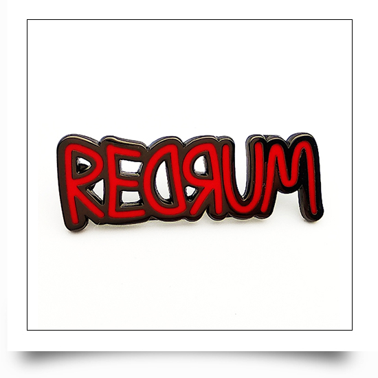 Red Metal Letter Pin