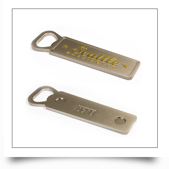 Seattle Dual Color Plated Bottle Openers