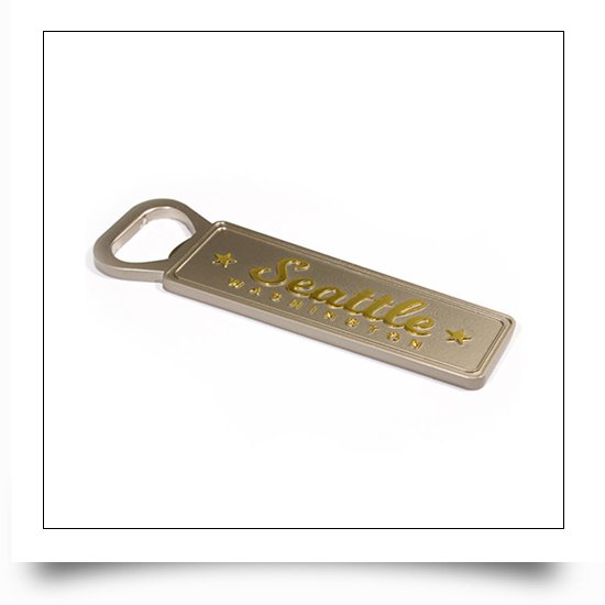 Seattle Dual Color Plated Seattle Bottle Opener