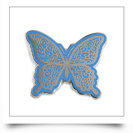 Soft Enamel Butterfly Pin with Epoxy