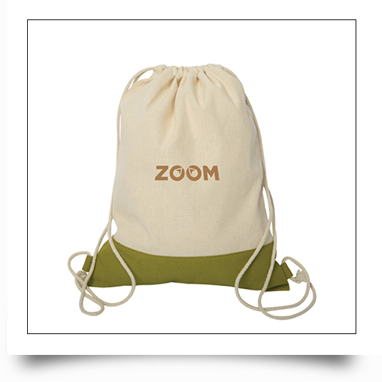 Two Tone Canvas Sport Backpacks