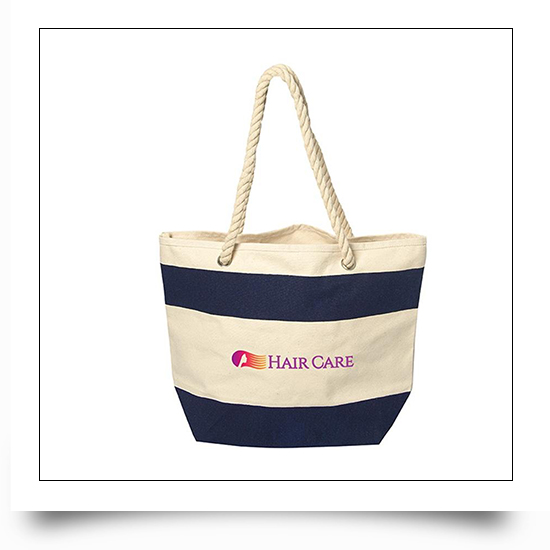 Two Tone Portable Reusable Canvas Grocery Bags