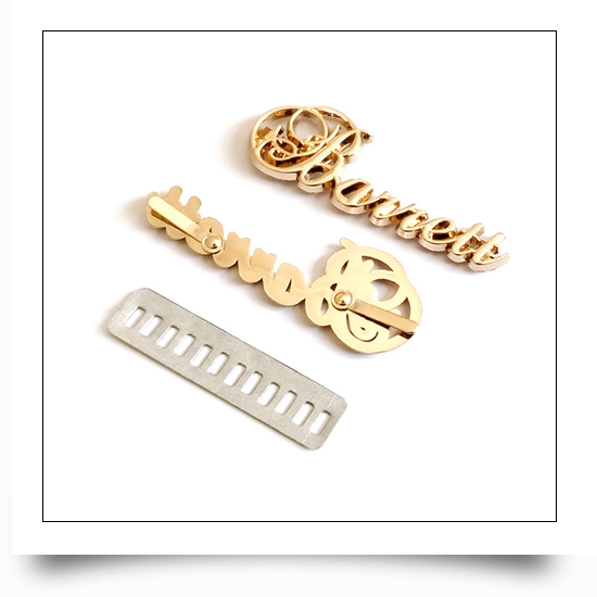 Custom Metal Letter Tags for Wallet
